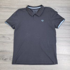 Guess Men's Casual Polo Shirt Grey Size Large
